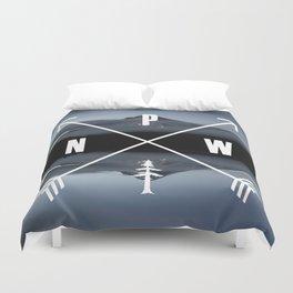 PNW Pacific Northwest Compass - Mt Hood Adventure Duvet Cover