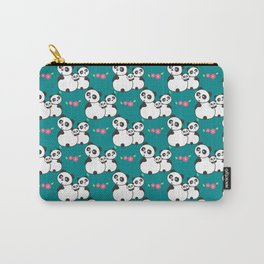 Panda family on meadow Carry-All Pouch