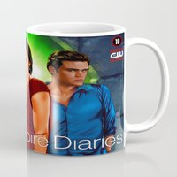 vampire diaries Mugs featuring The Vampire Diaries by Don Kuing