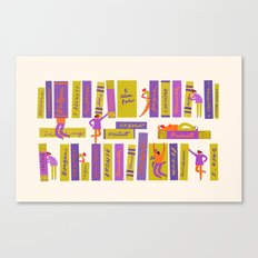 Writers and readers (1st version) Canvas Print