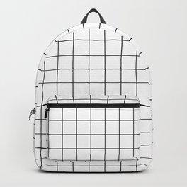 Grid White Backpack