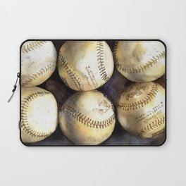 Baseball painting.  Watercolor painting of baseballs, home decor baseball Laptop Sleeve