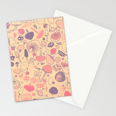Vintage Mushroom Pattern Stationery Cards