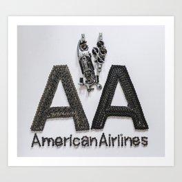 045: American Airlines - 100 Hoopies Art Print