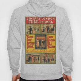 Vintage poster - Central London Railway Hoody