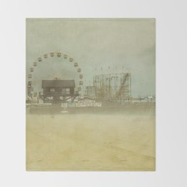 Seaside Heights Fun town pier New Jersey Throw Blanket
