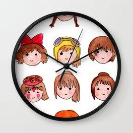 Studio Ghibli Girls Wall Clock
