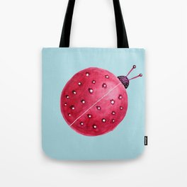 Spherical Abstract Watercolor Ladybug Tote Bag