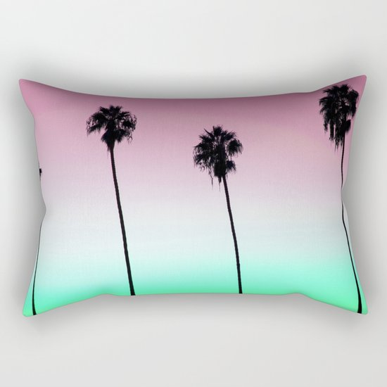 Pastel Palm trees Rectangular Pillow