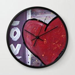 Puffed Up Love Wall Clock