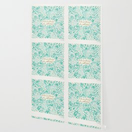 Adventure is Calling – Turquoise & Gold Palette Wallpaper
