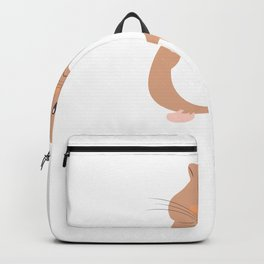 Just A Girl Who Wheely Loves Hammies - Funny Hamster  Backpack
