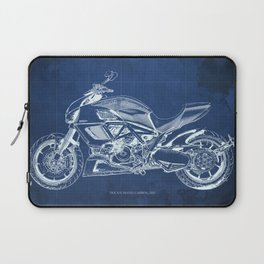 Diavel Carbon Blueprint Laptop Sleeve