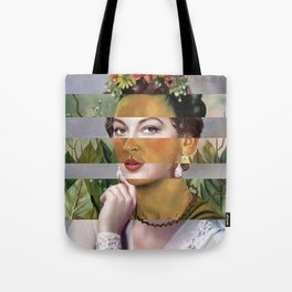 Frida's Self Portrait with Hand Earrings & Ava Gardner Tote Bag