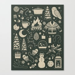 Winter Nights: Forest Canvas Print