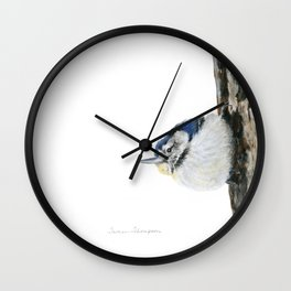 Cutie Pie the Nuthatch by Teresa Thompson Wall Clock