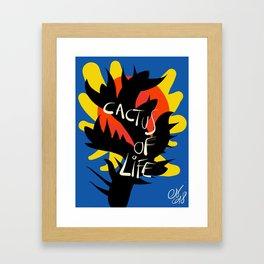 Cactus of Life Graffiti Street Abstract Art Framed Art Print