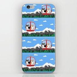 Gondola corgis telluride ski slopes custom dog iPhone Skin
