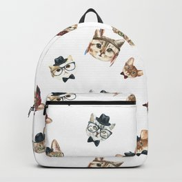 Cat People Pattern Backpack