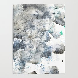 Watercolor abstract patterns that do not exist.Actually there are many color patterns.No.46 Poster