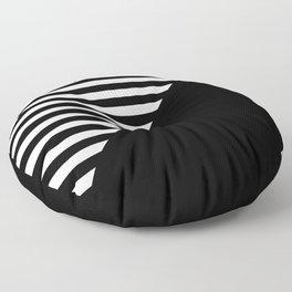 CRAZY STRIPES (BLACK-WHITE) Floor Pillow