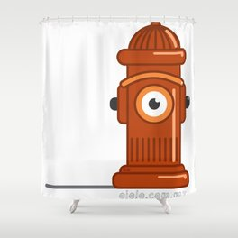 fire h.eye.drant Shower Curtain