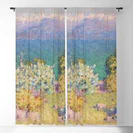 John Peter Russell - In the morning, Alpes Maritimes from Antibes Blackout Curtain
