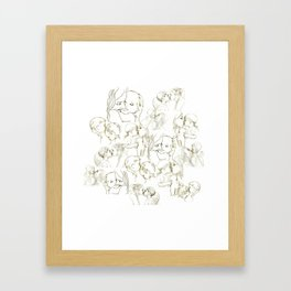Forms Of Love Family Framed Art Print