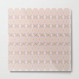 Colorful Geometric Pattern X Metal Print