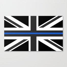Thin Blue Line UK Flag Canvas Print