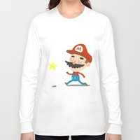 mario Long Sleeve T-shirts featuring Mario by Rod Perich