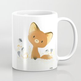 Little fox and flowers Coffee Mug
