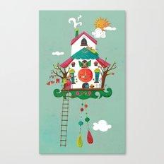 Cuckoo Mouse House Canvas Print