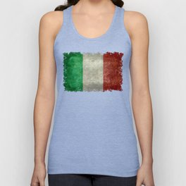 Flag of Italy, Vintage Retro Style Unisex Tank Top