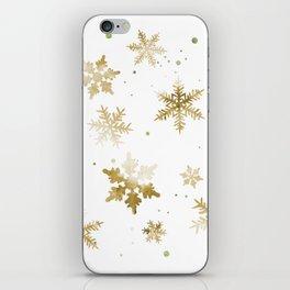 GOLD SNOWFLAKE PATTERN iPhone Skin