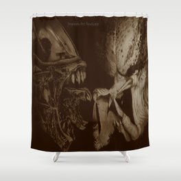 Alien vs Predator Shower Curtain