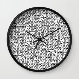 Microchip Pattern Wall Clock
