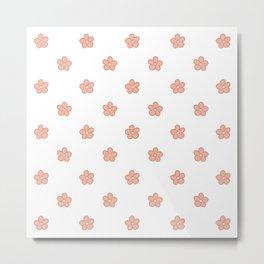 Polka Flower Spring Dots Metal Print