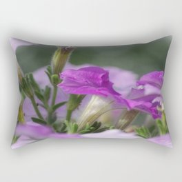 Blossoms in purple Rectangular Pillow
