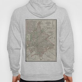 Vintage Map of Indianapolis Indiana (1921) Hoody