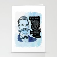 nietzsche Stationery Cards featuring Nietzsche and the Abstract Truth - Watercolor Version by Alexandra Ensign