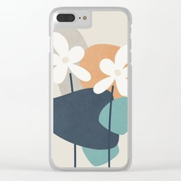 Abstract Flowers 3 Clear iPhone Case