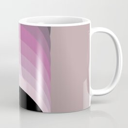 Art Deco Circle Contemporary Shades of Black, Pink and Gray Coffee Mug