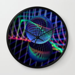 Swirls and lines in the glass ball Wall Clock