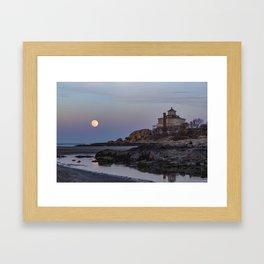 Full moon at Good Harbor Beach Framed Art Print