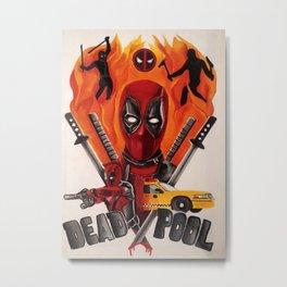 Dead Pool Movie Poster Metal Print
