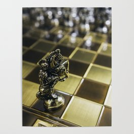Chess horse Poster