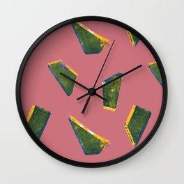 Jumbled Green Wall Clock