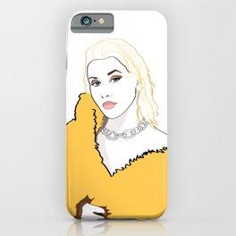 CHRISTINA AGUILERA LIBERATION Yellow Fur Jacket iPhone Case