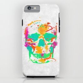 Dead Color Skull iPhone Case
